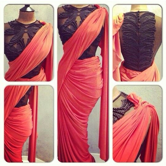 Modern saree wraps
