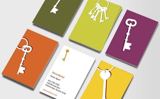Keys for change - Real Estate Business Card Design