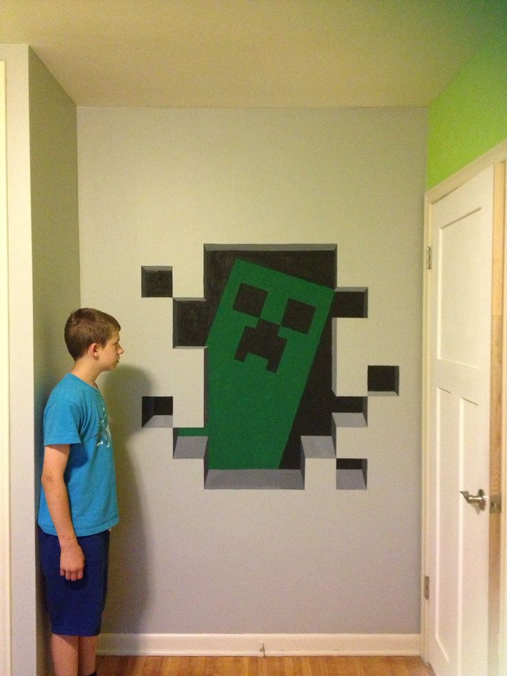 Minecraft creeper painted in 3D