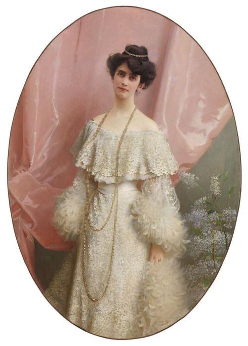 1904 Vittorio Matteo Corcos - Portrait of Yole Biaggini Moschini
