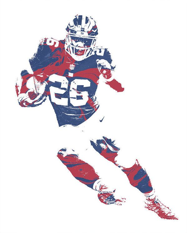 Saquon Barkley New York Giants Pixel Art 2 Art Print by