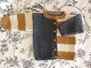 """Gingersnap"" children's cardigan by Kristen Rettig...love the colour blocks here!"