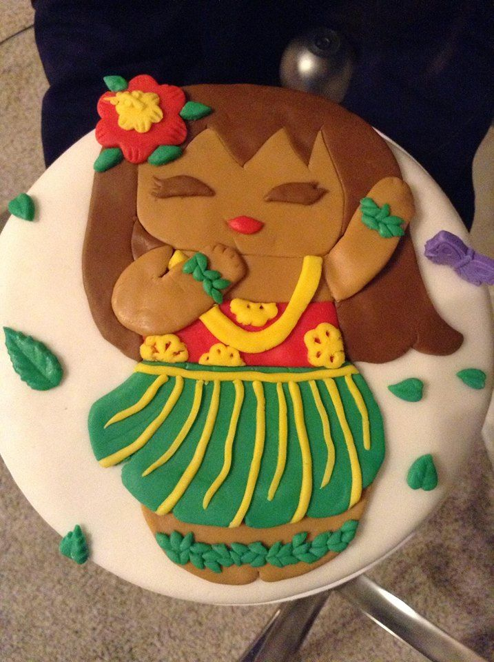 HULA GIRL CAKE MADE BY ZULMA FOR MY NIECE