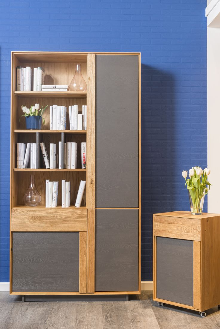 Bookcase from Woodline collection, designed by Klose. #homelibrary #homeoffice #bookcase #KloseFurniture