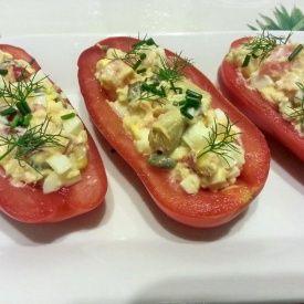 Pomodori ripieni con salmone e condiriso