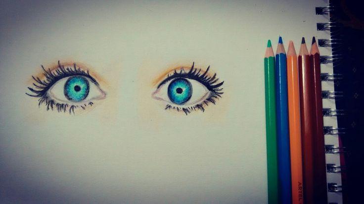 Ojos- Lapices de colores