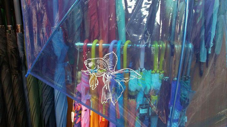 Przezroczysty parasol włoskiej marki Perletti z uroczym nadrukiem pływającej rybki. Cudo!  #umbrellashop #sklepzparasolami #parasoledlaciebie #parasol #parasolki #gift #koloroweparasole #colorfulumbrellas#prezent #pomyslnapezent