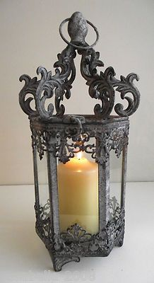 I love wrought iron and candles!