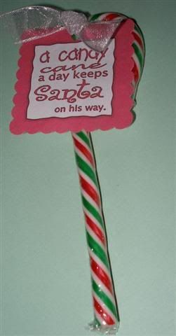 Day 7: candycane tagament | Card class | Pinterest | Candy ... |Gift Cute Saying For Candy Cane