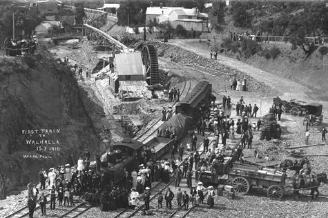 The first train to Walhalla, March 1910 Museum Victoria, Australia
