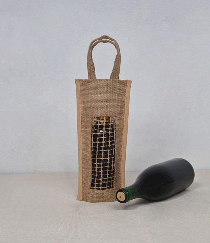 La bolsa para botellas Vancouver es un #packaging elegante con una rejilla que deja ver vuestro #producto y #marca #wine #vino
