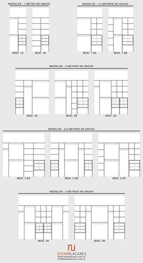 238 best medidas para hacer images on pinterest closet for Interiores de placard