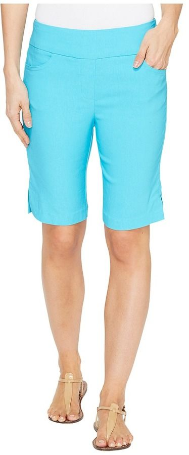"Tribal Stretch Bengaline 10"" Bermuda Shorts with Pocket"