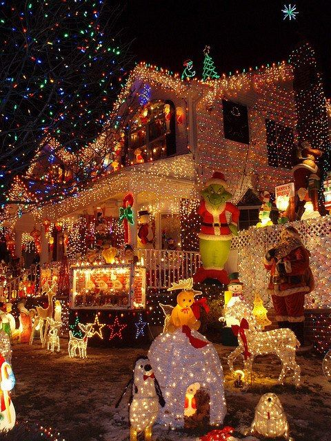 Thank You Lord for creative Christmas Decorators!!! MAKE THAT ELECTRIC METER SPIN!!!  I SO want to do this! Christmas Lights ~ Queens, NYC