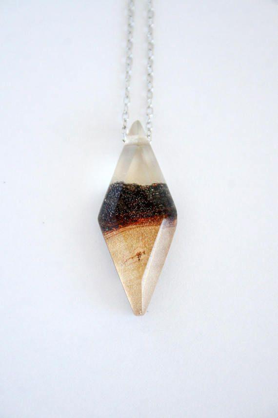 Boho Bohemian Style Geometric Diamond Handmade Natural Oak