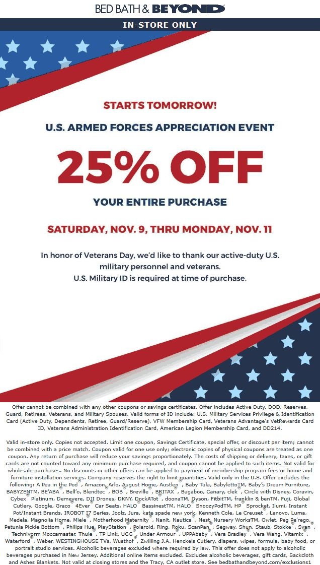 Pinned November 9th Military ID = 25 off everything at