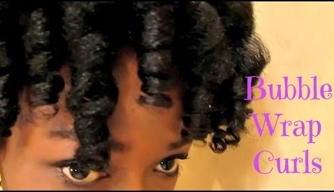 Poppin Curls Bubble Wrap Rollerset On 4c Natural Hair