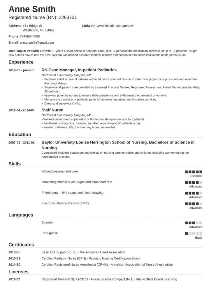 Sample Nurse Resume 2021 Nursing Resume Template Registered Nurse Resume Nursing Resume