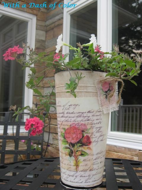 decoupage container