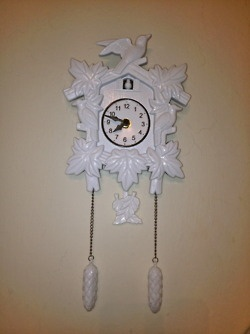 Kitsch cuckoo clock, urban outfitters
