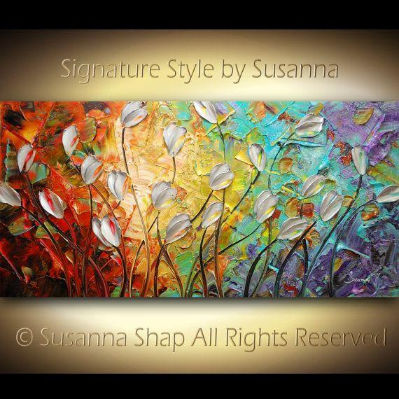 Beautiful abstract acrylic painting.