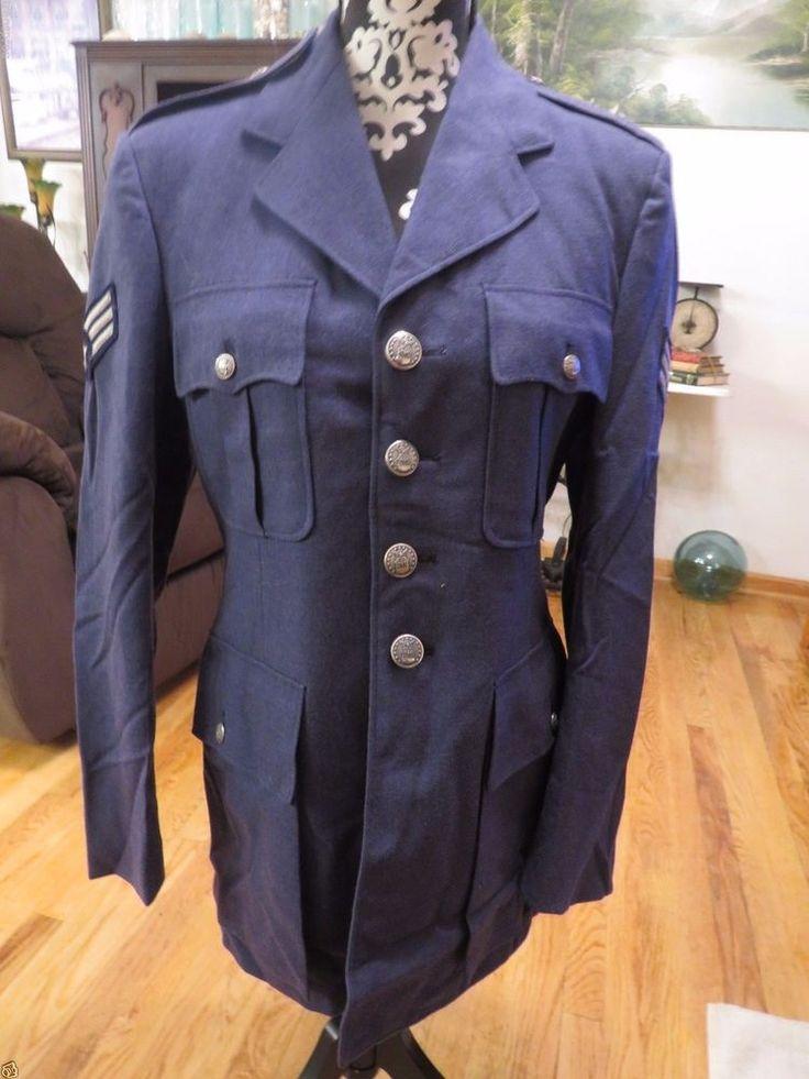 Vintage 1960's-1970's  Air Force Wool Uniform USAF Senior Airman