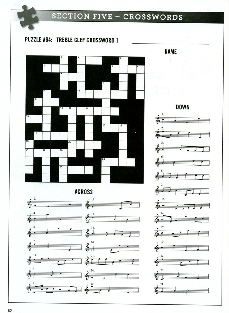 Enjoy this free music activity from Alfred Music's Music Puzzler. #learnteachplay #alfredmusic #musiceducation #classroom #crossword
