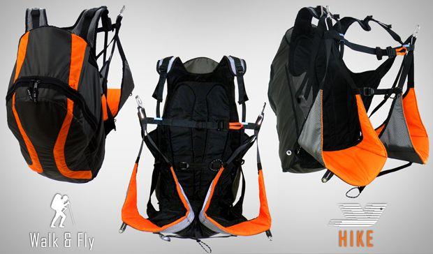 HIKE - супер лёгкая подвесная система  HIKE - наша новая ультра лёгкая подвесная система, трансформер подвеска/рюкзак. Подвесная система разработана для максимального комфорта для пеших походов и полётов. Разделённые ноги аккуратно соединяются. Эргономичная поддержка спины будет обеспечивать комфортные полёты и пешие путешествия.   http://airsport.ru/apco/harness/hike.html
