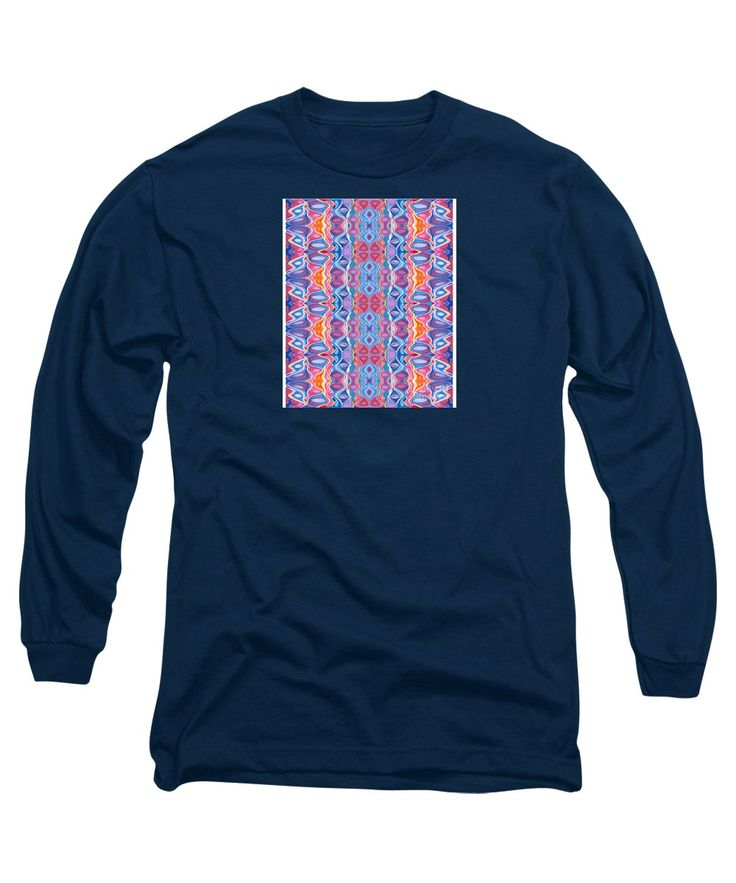 Print Original Colorful Fun Dynamic Vibrant Long Sleeve T-Shirt featuring the painting Pleasure by Expressionistart studio Priscilla Batzell