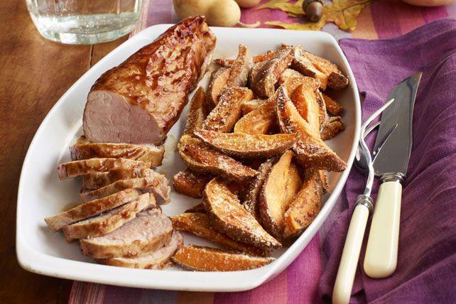 BBQ Pork Tenderloin & Sweet Potato Fries