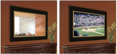 This two way mirror is also a tv! MUST DO THIS!! thanks hgtv! :)
