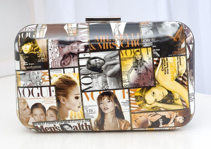 2015 nieuwe mode tijdschriften bag' s avonds handtassen vrouwen tassen posters deksel. Retail& groothandel(China (Mainland))