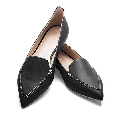 M Gemi The Stellato Shoes - black loafers, black flats, black pointy toe loafers, black pointy toe flats, black pointed loafers
