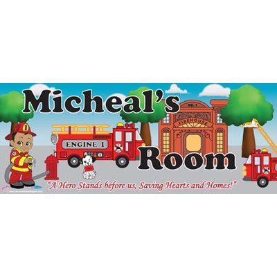 Mona Melisa Designs Fireman Boy Name Wall Decal Skin Shade: Medium, Eye Color: Hazel, Hair Color: Red