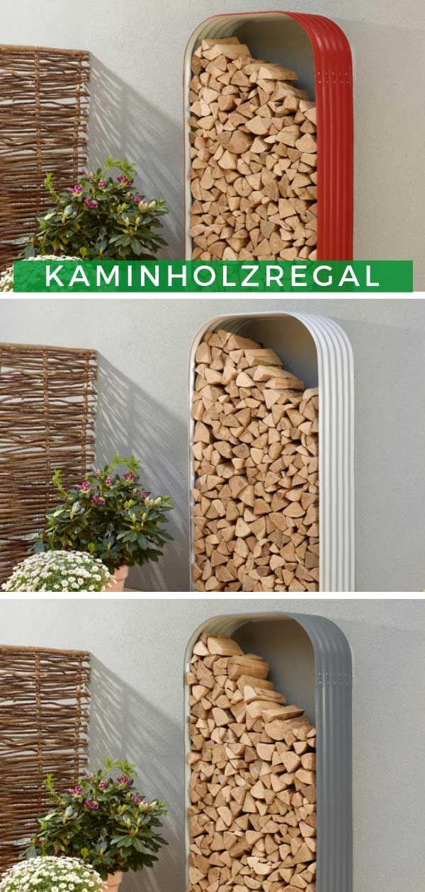 Kaminholzregal außen