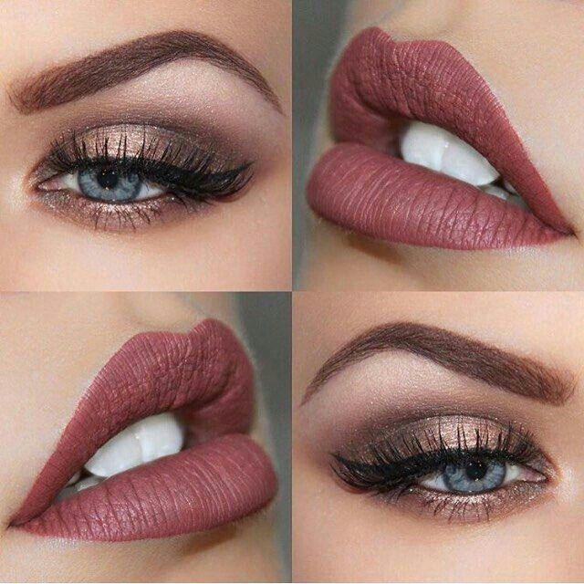 Beautiful eye color, perfect lips!