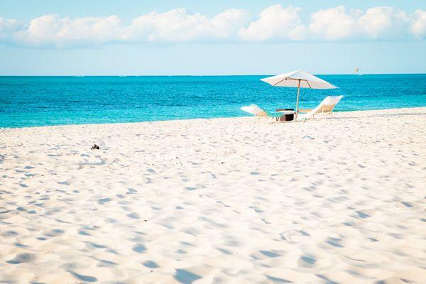 A private beach, maybe along the South Carolina coast