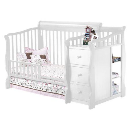 Sorelle Tuscany 4 In 1 Convertible Crib N Changer Combo White