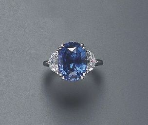 A SAPPHIRE AND DIAMOND RING | Christie's