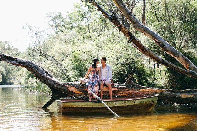 Row boat engagement  - Sydney