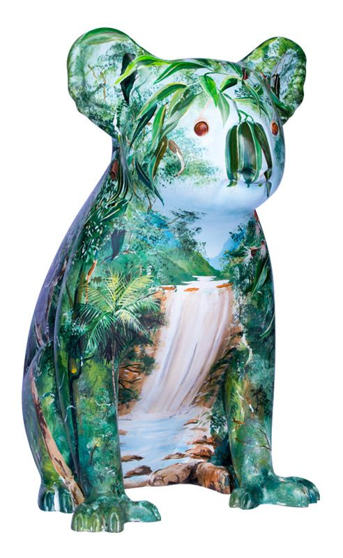 Stoney | Another beautifully painted koala located at #billabongzoo in #portmacquarie as part of the #koalatrail sculptures project in Port Macquarie, NSW.