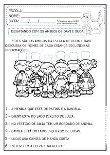 """Alfabetizar com AMOR: """"OS DOIS AMIGOS"""" NA MATEMÁTICA - DESAFIO/ TABELA/ ..."""