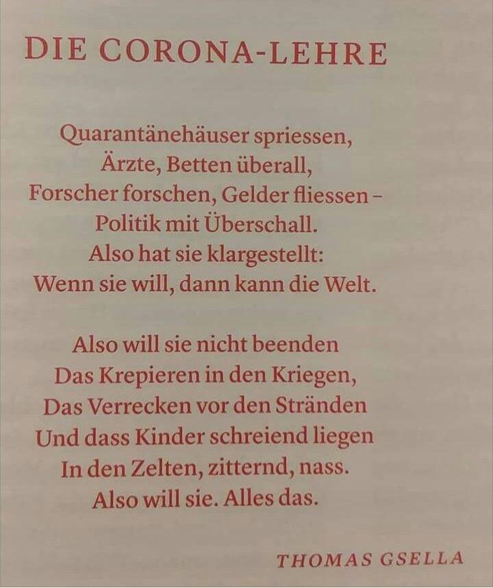 Pin Von Soldi Auf Meine Gedichte Sammlung Gute Gedichte Gedichte Corona