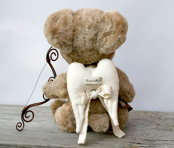 Teddy Cupid Art Collectible Toy | HandmadeHome
