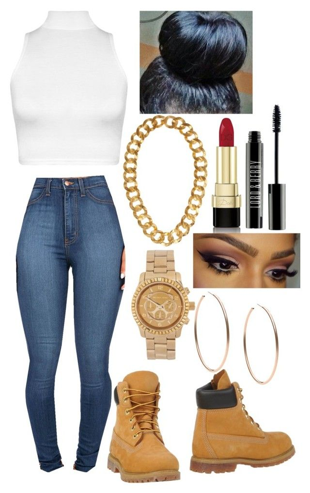 """ghetto"" by yaritzaj ❤ liked on Polyvore featuring Timberland, WearAll, Michael Kors, Kenneth Jay Lane, Dolce&Gabbana and Lord & Berry"