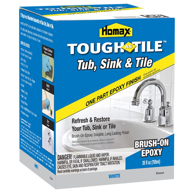 Homax 174 Tough As Tile 174 Brush On Tub Sink Amp Tile