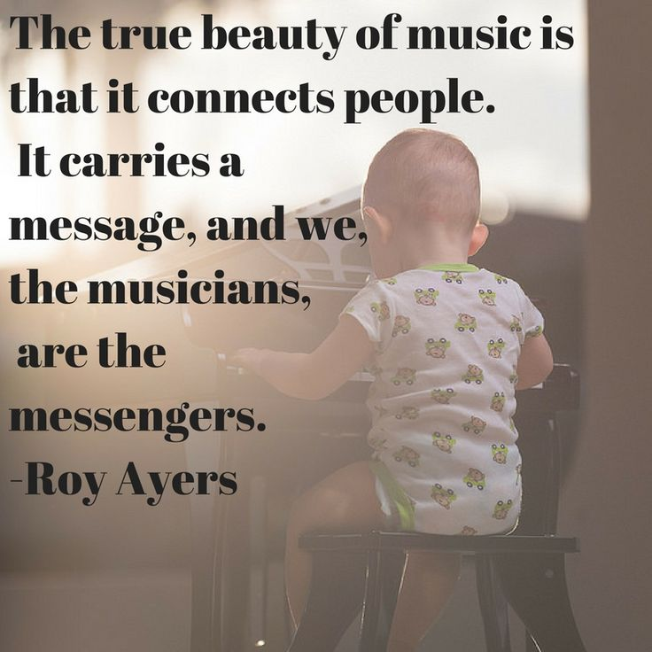 The true beauty of music is that it connects people. It carries a message, and we, the musicians, are the messengers. Roy Ayers