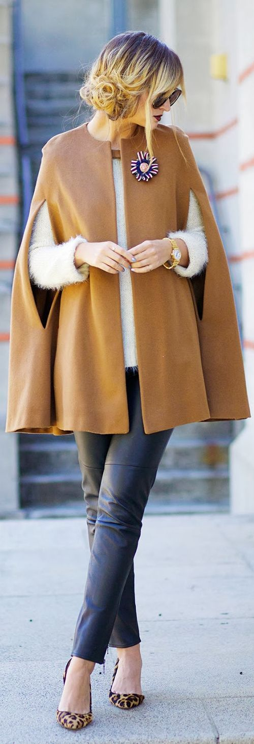 Capes are trending fall 2014. PERFECT
