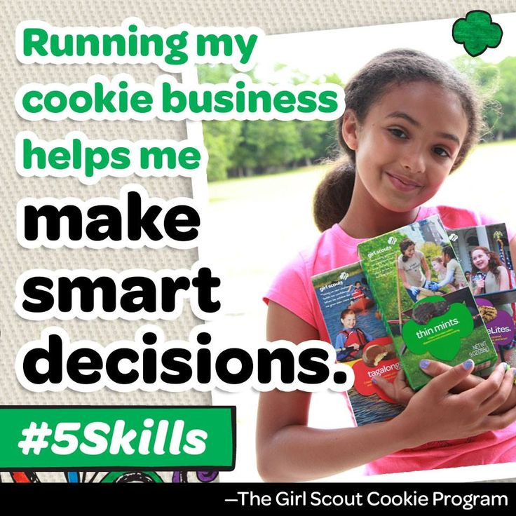 Building future CEOs, one cookie booth at a time! Decision making is one of the many skills girls learn through the Girl Scout Cookie Program. Support your local Girl Scouts today!