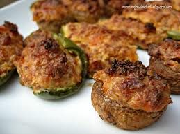 Barbeque Stuffed Jalapenos & Mushrooms | To Speed Up Metabolism